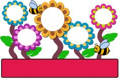 Garden Theme Classroom, Classroom Birthday, Classroom Themes, Borders For Paper, Borders And Frames, Class Decoration, School Decorations, Orla Infantil, Bulletin Board Design