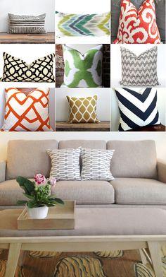 G R E Y and S C O U T- best Etsy shops for pillows.