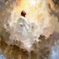 Jesus ascends into heaven.