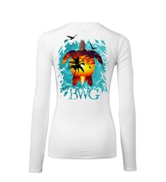 Sea turtles are beautiful creatures that all anglers and blue water enthusiasts love to see gliding around in the water. This sea turtle design colored with a sunset is sure to be an eye-catching favorite. Made with 100% Microfiber, UPF 50+ solar plus protection and Pure-tech moisture wicking technology, this shirt is sure to keep you cool and dry all day long while protecting your skin from harmful UV rays.