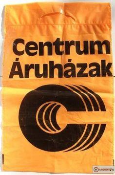 Centrum Áruház reklámzacskó - 1979 Illustrations And Posters, Old Toys, Childhood Memories, Nostalgia, Pickle, Budapest, 1980s, Commercial, Iron