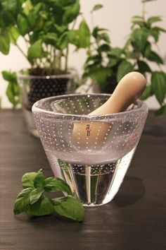 Glass mortar by Mafka. All Mafka glass products are designed and made by glass artist Marja Hepo-aho.