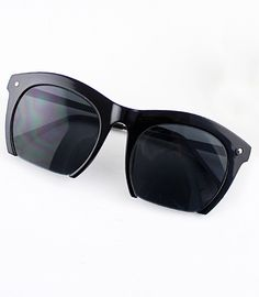 Fashion Black Rim Sunglasses - Sheinside.com