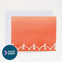 A touch of orange. - 5 Handmade paper goodies.