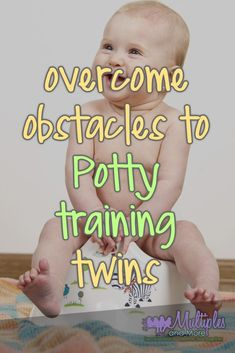 Overcome obstacles to potty training twins and triplets. Toilet Training kids