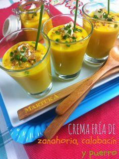 Las recetas de Martuka: Crema Fría De Zanahoria, Calabacín Y Puerro