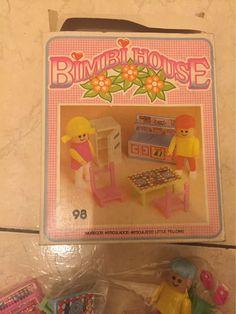 bimbi house   muñecos articulados set cocinita  en caja