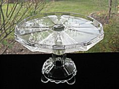 Antique Victorian Clear Ribbon Cake Stand/Salver. Click on the image for more information.