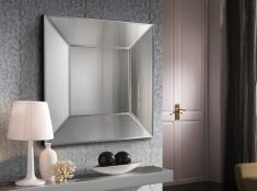 Miroirs en verre modernes : Modèle MILAN Carré