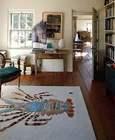 Spiny Lobster Rug   + Anthropologie + Beach Cottage + Florida Home +  Coastal Living .Want This Rug!