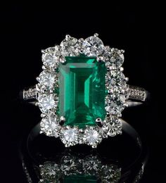 Superior+natural+Colombian+emerald+and+diamond+by+hawkantiques,+£7250.00