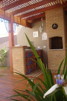 Pergola for small churraqueira Gazebo Pergola, Pergola With Roof, Patio Roof, Pergola Plans, Patio Bar, Outdoor Spaces, Outdoor Living, Outdoor Decor, Surf House