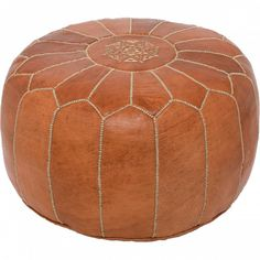 Terracotta Moroccan Pouf