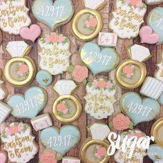 "412 Likes, 7 Comments - Lyndsie Hays (@sugarbylyndsie) on Instagram: ""Love the color scheme of these bridal shower cookies! #customcookies #decoratedcookies #dallas…"""