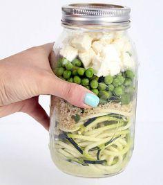 14 receitas de salada no pote, experimente