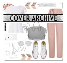"""""""Casual"""" by elma02 on Polyvore featuring RE/DONE, Topshop, FOSSIL, Converse, Givenchy and Christian Dior"""