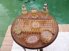 Antique Val St. Lambert 12 Piece Perfume Cologne Dresser Set c.1920's, gl101