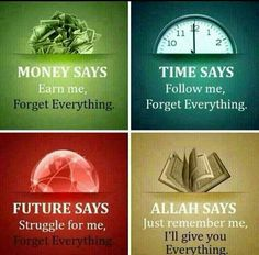 Money, time, future, and Allah