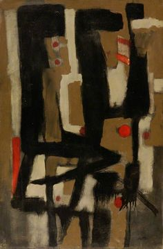 Roger Hilton   Composition II 1951via bbc.co.ukOil on canvas, 76.5 x 50.9 cmCollection:Southampton City Art Gallery