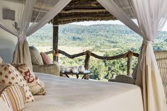 The view from Bailey's Banda at Beho Beho, Selous Game Reserve, #Tanzania.