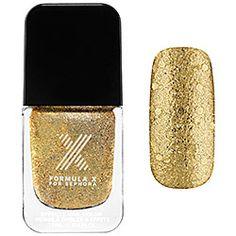 Formula X For Sephora - Lusters in Bond, Ionic Bond - gold multi-glitter  #Sephorasweeps