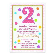 Sweet Surprise 2nd Birthday Invitation
