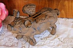 Flying Pig Cast Iron Piggy Bank Whimsical Pig When Pigs Fly