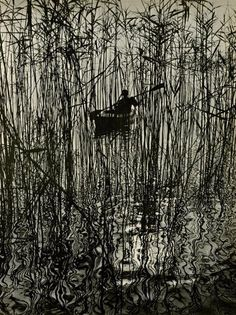 Along the Bodensee at Mainau,Germany, 1961 by Ruth Hallensleben on Curiator, the world's biggest collaborative art collection. Foto Art, Art Plastique, White Art, Black And White Photography, Printmaking, Graphic Art, Art Photography, Illustration Art, Sketches