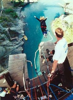 Bungee off Kawaru Bridge in New Zealand
