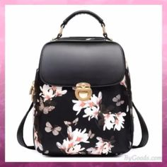 Cheap Retro Frosted Metal Lock Flap Backpack Multifunction Shoulder Bag With A Back Headphones Hole PU Square Backpack For Big Sale!Retro Frosted Metal Lock Flap Backpack Multifunction Shoulder Bag With A Back Headphones Hole PU Square Backpack Lace Backpack, Floral Backpack, Backpack Bags, Cute Backpacks, Girl Backpacks, Leather Backpacks, School Backpacks, Fashion Bags, Boots