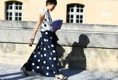 Fabulous polka dotted outfit!