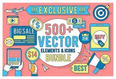 https://www.behance.net/gallery/42196091/Linear-Vector-Elements-Icons