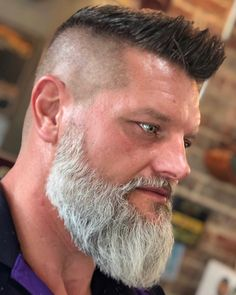 Beard And Mustache Styles, Beard Styles For Men, Beard No Mustache, Hair And Beard Styles, Moustache, Grey Hair Beard, Long Hair Beard, Short Beard, Beard And Hairstyles