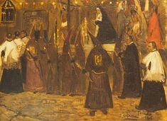 Procesión en Toledo, José Gutiérrez Solana Painting, Art, Art Background, Painting Art, Kunst, Paintings, Performing Arts, Painted Canvas, Drawings
