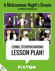 Your students will love writing about SHAKESPEARE with Pixton comics and storyboards! This FREE lesson plan features a Teacher Guide, themed characters, props and backgrounds. PLUS 3 awesome activities with interactive rubrics, student examples and printable handouts.