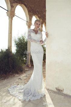 2014-new-hot-lace-wedding-dresses-with-v.jpg 659×988 pixels
