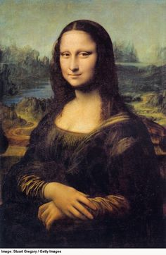 "Photo Gallery of Famous Paintings by Famous Artists: ""The Mona Lisa"" by Leonardo da Vinci"