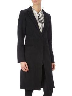 NEO NOIR Wollmantel mit Reverskragen in Schwarz | FASHION ID Online Shop Fall Looks, Suit Jacket, Breast, Dresses For Work, Blazer, Suits, Jackets, Shopping, Autumn