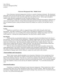 Classroom Management Plan Template Images  Pictures  Becuo