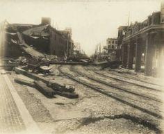 Galveston Hurricane View Down Q Street