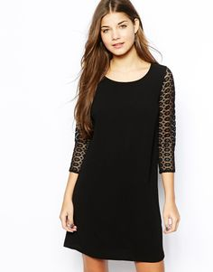 ASOS guipere sleeve dress