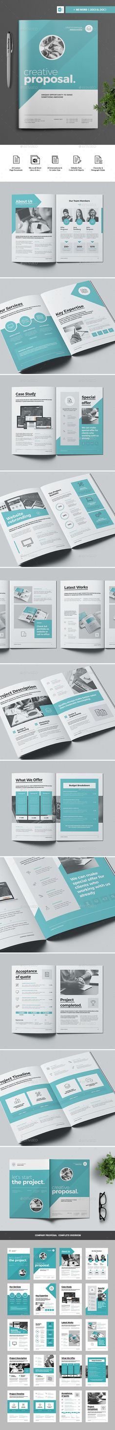 Proposal Clean and Professional Proposal Template InDesign