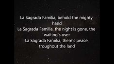 Alan Parsons Project - La Sagrada Familia (awesome prog-rock)