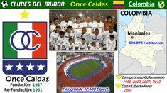 El Once Caldas ha sido campeón cuatro veces del fútbol profesional colombiano, en 1950, en el Apertura de 2003, en el Apertura de 2009 y en el Finalización de 2010 . En 2004 logra ser campeón de la Copa Libertadores de América, derrotando en la final, al que era el vigente campeón Boca Juniors de Argentina, convirtiéndose así en el segundo equipo colombiano en conseguir este título. En 2004 queda Subcampeón de la Intercontinental #Colombia #Futbol #Football #ClubesDelMundo #Soccer