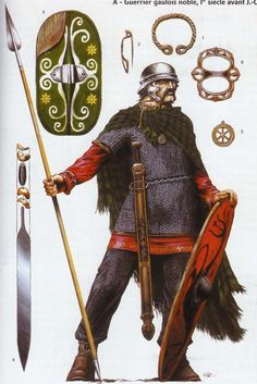 Noble celte, (grand) breton ou Morin ou Ambien. Illustration de Wayne Reynolds.