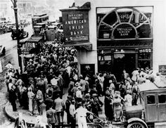 On October 23, 1929, the Dow Jones Industrial Average plunged, starting the stock-market crash that began the Great Depression.