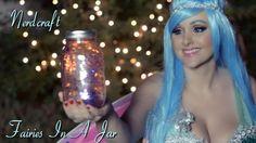 Fairies In A Jar/ Fairy In A Jar.  Such a fun #DIY to do!