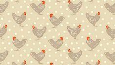Chicken and Egg Hens Makower Fabric