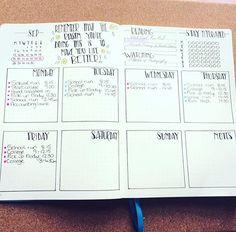 bullet journal weekly spead See this Instagram photo by @kerryvonbujo