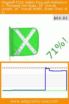 "Flagstaff FS10 Safety Flag with Reflective X, Threaded Hex Base, 16"" Overall Length, 16"" Overall Width, Green (Pack of 1) (Misc.). Drop 71%! Current price $66.85, the previous price was $233.52. http://www.adquisitio-usa.com/checkers-industrial/flagstaff-fs10-safety-0"